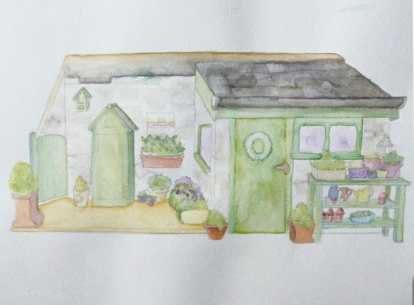 outhouse watercolour 2