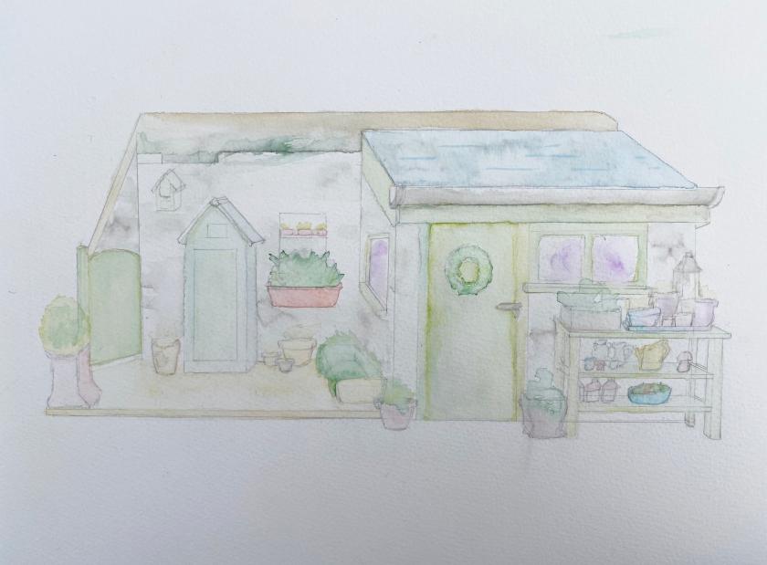 outhouse watercolour