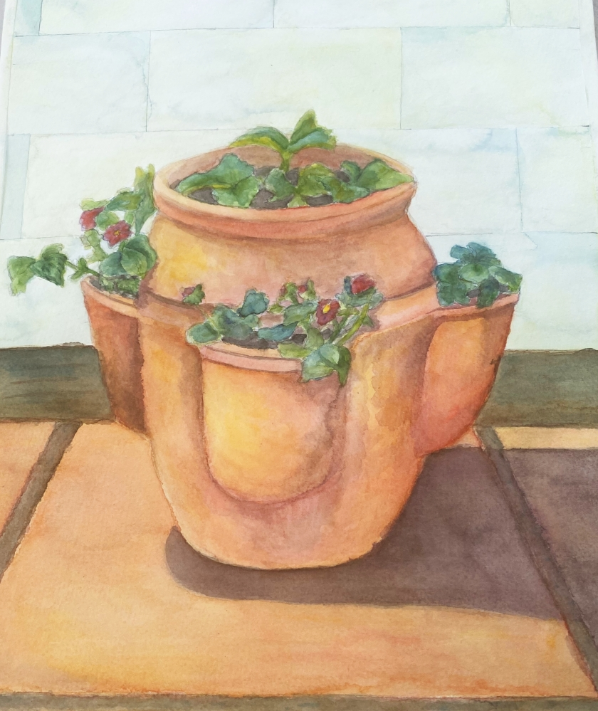 terracotta plat pot layer 3